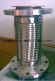 Boyau flexible en métal tressé ondulé d'acier inoxydable de température élevée