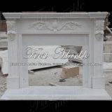Binnen Marmeren Open haard mfp-1158 van Carrara van het Graniet van de Steen Witte
