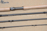 Los salmones del interruptor de la fibra del carbón de Toray vuelan la pesca Rod