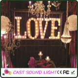 LED Love Letter Sign Casamento Light / Fancy Decoration Wedding