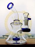 小型アーム木の紫色のピンクの青緑のビーカーのガラス配水管の頭骨の卵の再資源業者の煙る管接合箇所ガラスの管