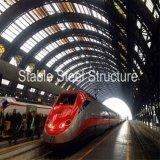 Stahlrohr-Binder-Zelle-Dach für Bahnhof