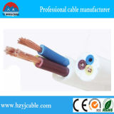 3*2.5mm2 3core PVC 절연제 검정 재킷 Rvv 둥근 케이블