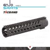 Galleggiante libero Keymod del composto (CFC) della fibra del carbonio di Tacband guida di Handguard di 10 pollici con il nero superiore della guida di Picatinny