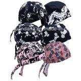 I prodotti dell'OEM hanno personalizzato le protezioni nere promozionali del cappello del cranio del motociclista del cotone stampate marchio