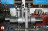 Installazione della conduttura più la valvola a saracinesca del gas del PE