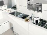 2017 cabinas de cocina blancas estándar modernas en línea calientes de la laca