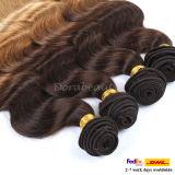 ブラジルのOmbreボディ波のバージンの毛のよこ糸