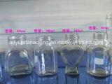 Tarros de cristal para el coto con la tapa