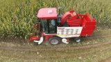 4개의 수확 줄을%s 가진 성숙한 옥수수 수확기 모형