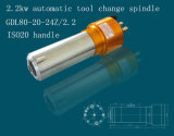 2.2kw шпиндель водяного охлаждения с автоматической смены инструмента ISO20 ручкой (GDL80-20-24Z / 2.2)