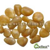 검정 또는 Yellow/Red/White/Grey High Polished Pebble Graval Stone Paver와 Paving