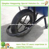 Carretilla concreta de la construcción con la rueda de goma sólida 15X3