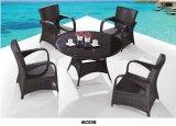 Мебель ротанга PE чая и обедая таблицы и сада