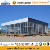 12*12m Aluminium Wall Cladding Transparent Glass Tent S (12)