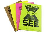Livro de exercício de escola encadernado dos cadernos da colagem engraçada do projeto