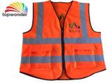 Modificar el alto bolsillo de la visibilidad para requisitos particulares, chaleco reflexivo de la seguridad de la cremallera, ropa reflexiva, ropa reflexiva