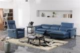 3 colores cubren el sofá con cuero con el mecanismo del Recliner