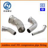 Os encaixes inoxidáveis da imprensa da tubulação de aço escolhem a compressão cotovelo de 45 graus