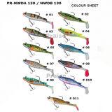 PR-Nwda/Nwdb 130 Kunstmatig Plastic Aas met Lokmiddel van de Visserij van de Haak het Zachte Levende