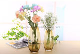 Vaso alto di vetro macchiato per il fiore