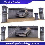 Étalage droit estampé polychrome de publicité extérieur ou d'intérieur de tissu de tension