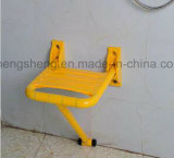 Cadeira de chuveiro de dobramento fixada na parede médica da saúde anti-bateriana