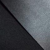 Couro sintético do plutônio do preto escuro para a sapata de Women, carregador