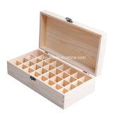 Nuevo rectángulo de almacenaje de madera modificado para requisitos particulares del vino de la dimensión de una variable redonda del diseño en color natural