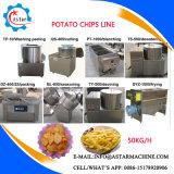 planta de microplaquetas Semi automática da batata das fritadas do francês 100kg/H para a venda