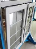 Guichet en verre glacé par double de tissu pour rideaux ouvert de PVC d'oscillation avec le prix bas (PCW-039)