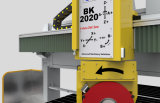 5 CNC van de as de Brug zag Machine