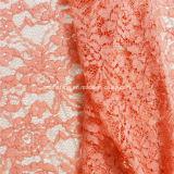 Algodón Nylon rojo de ganchillo suiza química tela de encaje (NF1003)