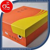 [هيغقوليتي] برتقاليّ لون صندوق من الورق المقوّى لأنّ أحذية