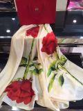 Bufanda de seda de la flor de Pur