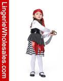 Costume multicolore de Cosplay de pirate de Veille de la toussaint de gosses pour la fille