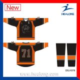 Hockey sur glace sublimé par teinture de sublimation d'ODM de Healong