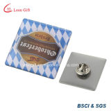 Pin in lega di zinco di Silver 3D Metal Badge con Your Own Design