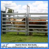 Панелей лошади скотных дворов рельса портативной панели ярда сверхмощные 6 овальных