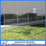 6つの'高いX 10 '長い鎖リンク携帯用使用された構築の一時塀のパネル