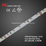 Alta tira 3000k de la baja densidad LED del CRI Epistar 1210 de la UL