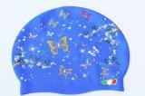 Bambini divertenti che nuotano il cappello di nuoto del silicone del cappello