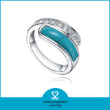 Mode-Türkis-Silber-Ring-Schmucksache-Mode (R-0516)