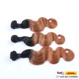 A onda peruana T do corpo do cabelo humano colore a extensão do cabelo humano de Remy do cabelo