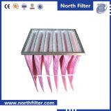 Filtro dell'aria del sacchetto della fibra di vetro per il depuratore di aria