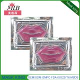 Le clinquant d'or de soin de peau sensible récupèrent le masque de lèvre