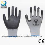 Gants fonctionnants industriels protecteurs de travail enduits par nitriles (N001)