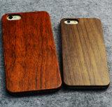 Cas en bois réel fait sur commande de luxe à extrémité élevé de couverture de téléphone mobile pour le cas blanc en bambou de téléphone cellulaire de l'iPhone 6/6s