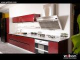 Armadi da cucina 2017 moderni della migliore di prezzi di Welbom lacca rossa di alta qualità