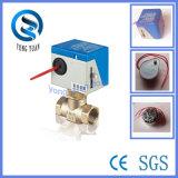 Válvula motorizada actuador eléctrico de la válvula de 2 vías de latón para Fan Coil (BS-818-20)